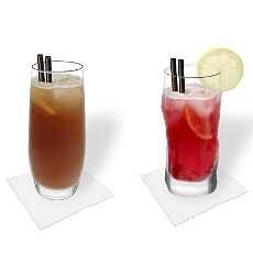 Verschiedene Long Island Ice Tea Dekorationen