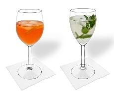 Rot- und Weißweinglas