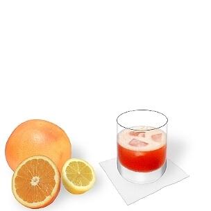 Aperol Sour im Whisky-Glas, die übliche Art diesen leckeren Sour zu servieren.