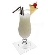 Batida de Coco Zubereitung: Servieren