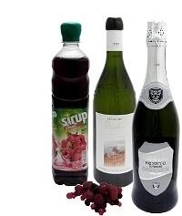 Beerenbowle Zutaten: Mit Beeren-Sirup (Standard)