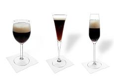 Verschiedene Black Velvet Dekorationen
