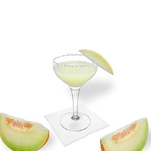 Eine weitere großartige Option für Frozen Melon Margarita, eine Cocktailschale.