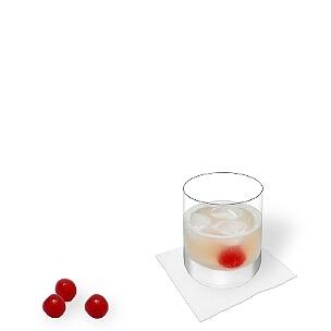 Gin Sour im Whisky-Glas, die übliche Art diesen leckeren Sour zu servieren.