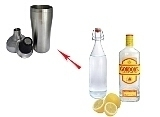 Gin Sour Zubereitung: Shaken