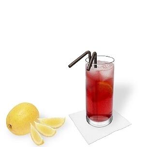Eine schöne Farbe, guter Geschmack und viel Alkohol, das ist Long Beach Ice Tea.