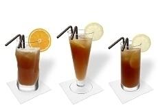 Verschiedene Long Island Ice Tea Dekorationen