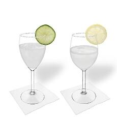 Margarita im Weiß- und Rotweinglas