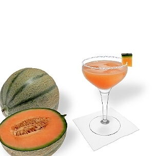 Eine weitere großartige Option für Melonen Margarita, eine Cocktailschale.