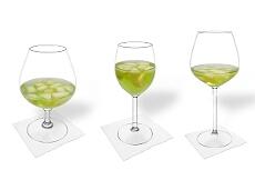 Verschiedene Melonenbowle Dekorationen