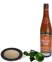 Mojito Zutaten: Mit braunem Rum (Standard)