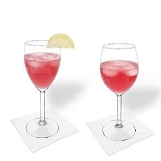 Pomegranate Margarita im Weiß- und Rotweinglas