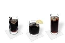 Verschiedene Rum Cola Decorationen